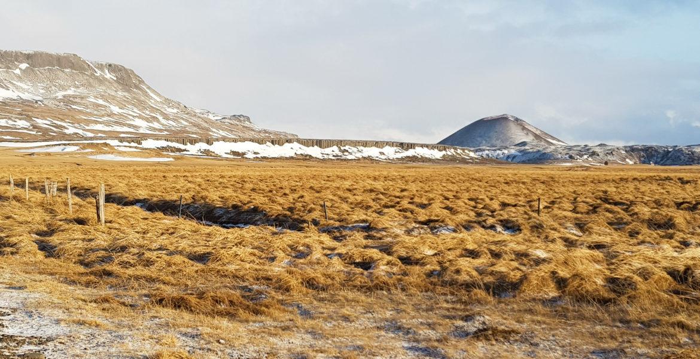 paysage islandais l'hiver