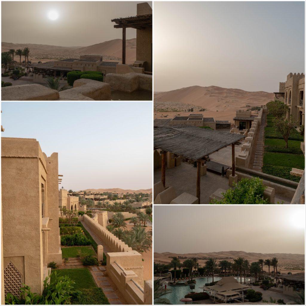 différentes vues de l'hôtel Qsar Al Sarab