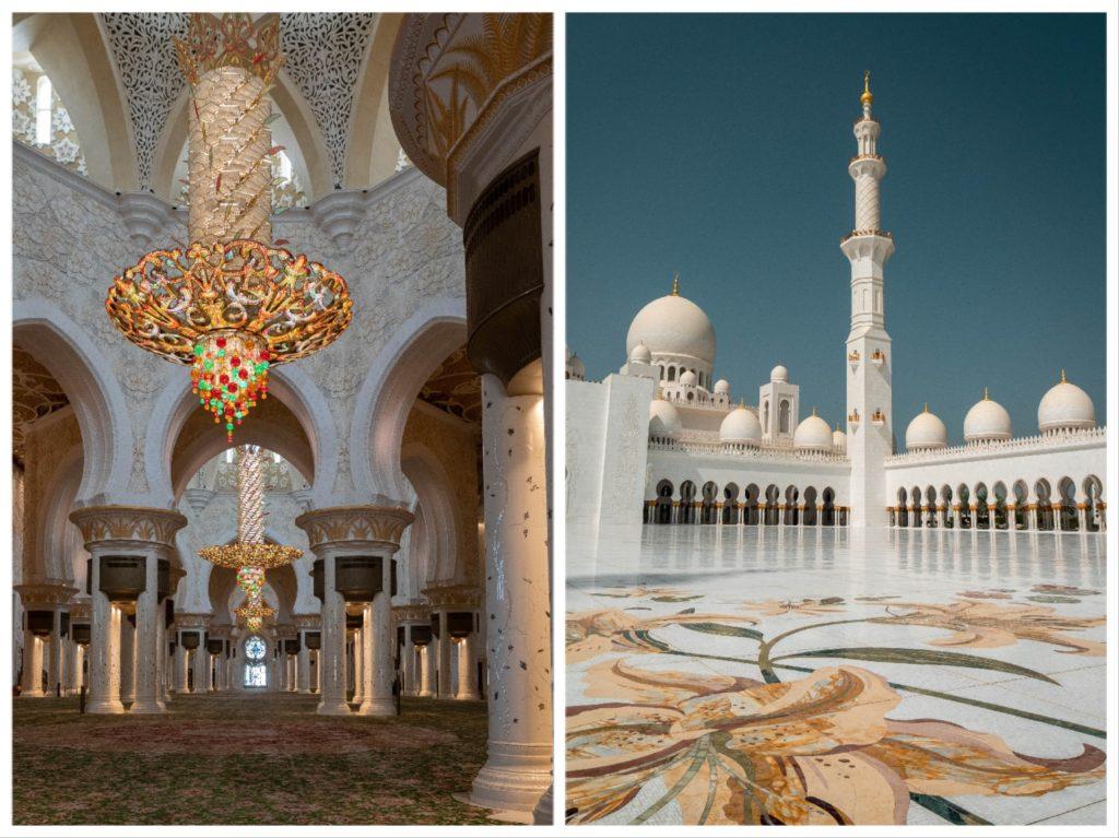 détails des lustres Swarovski de la mosquée