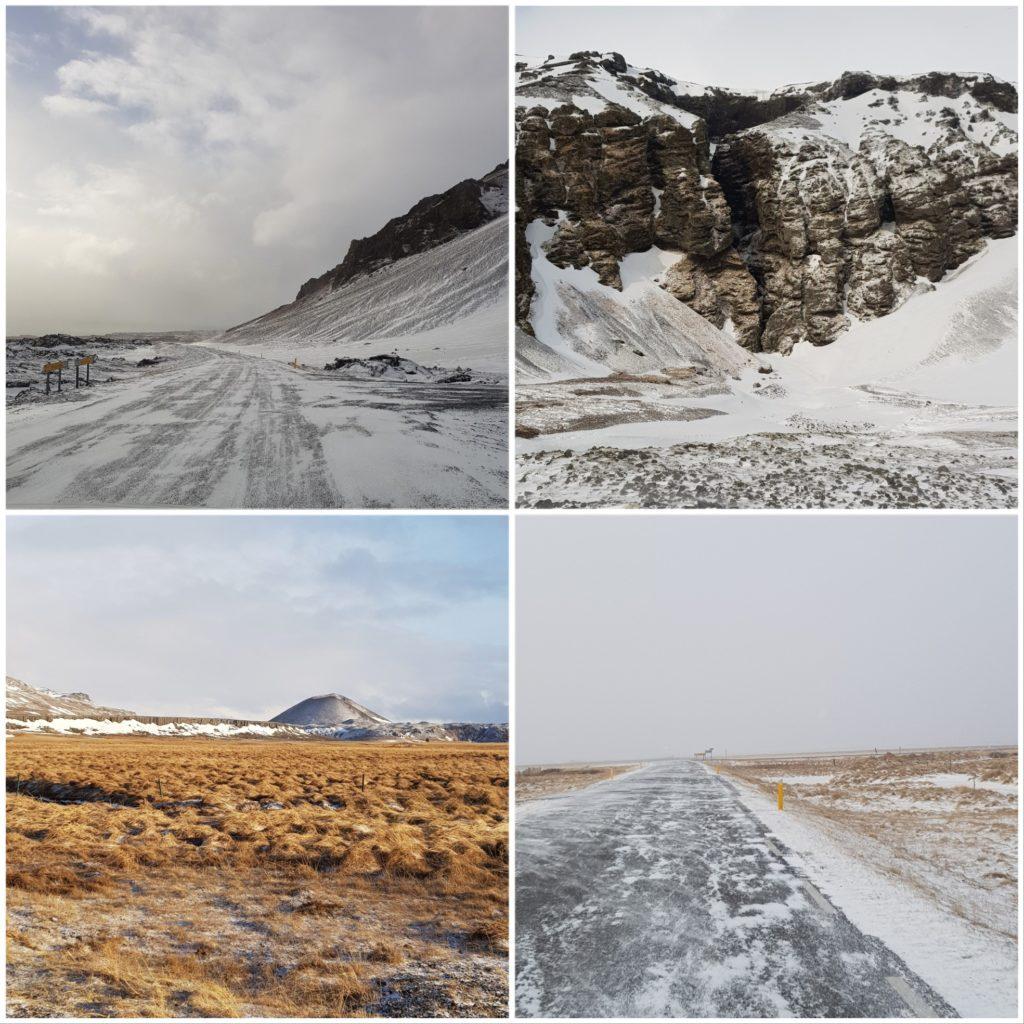 images d'un road trip en Islande l'hiver, visiter le Snaefellsnes en famille