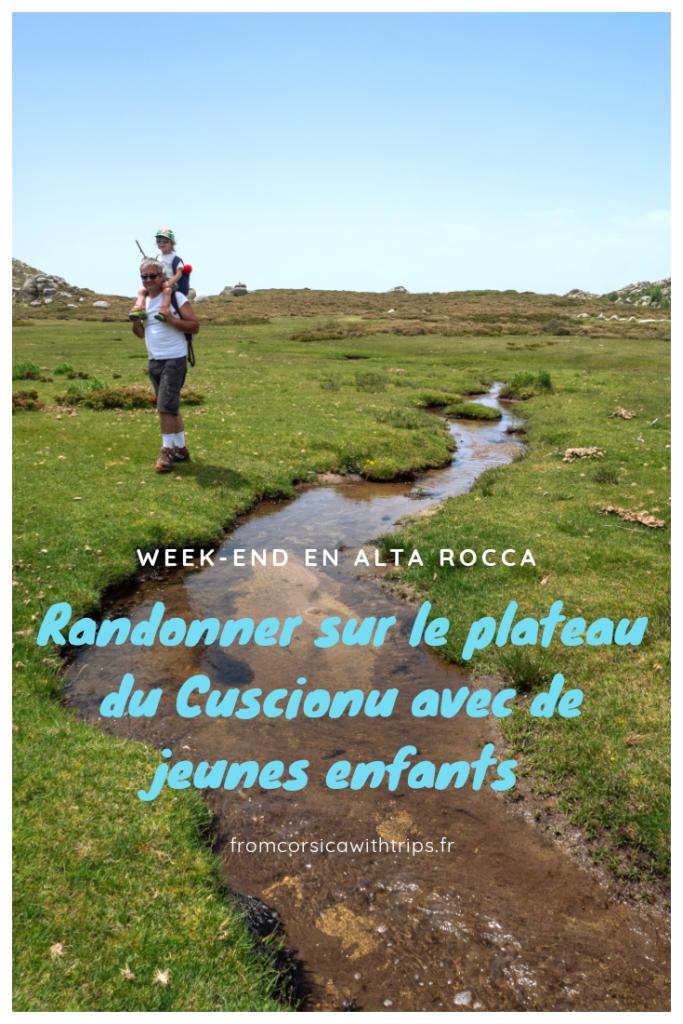 Randonnée sur le plateau du Cuscionu (Corse)  en famille