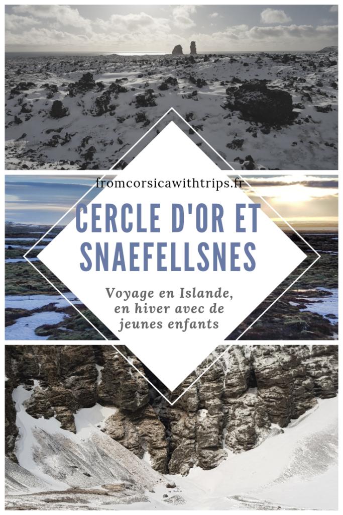 Road trip en Islande : visiter le cercle d'or et le Snaefellsnes l'hiver avec de jeunes enfants.