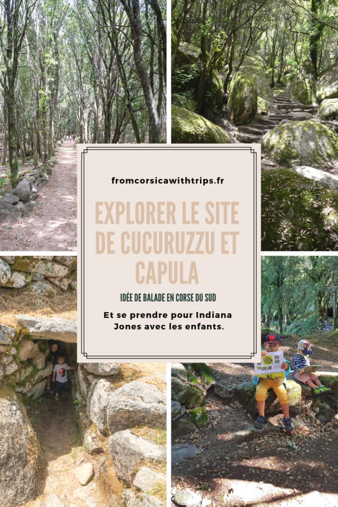Idée de balade familiale en Corse du Sud: Cucuruzzu et Capula. Deux châteaux, préhistorique et médiéval, dans une chenaie magnifique