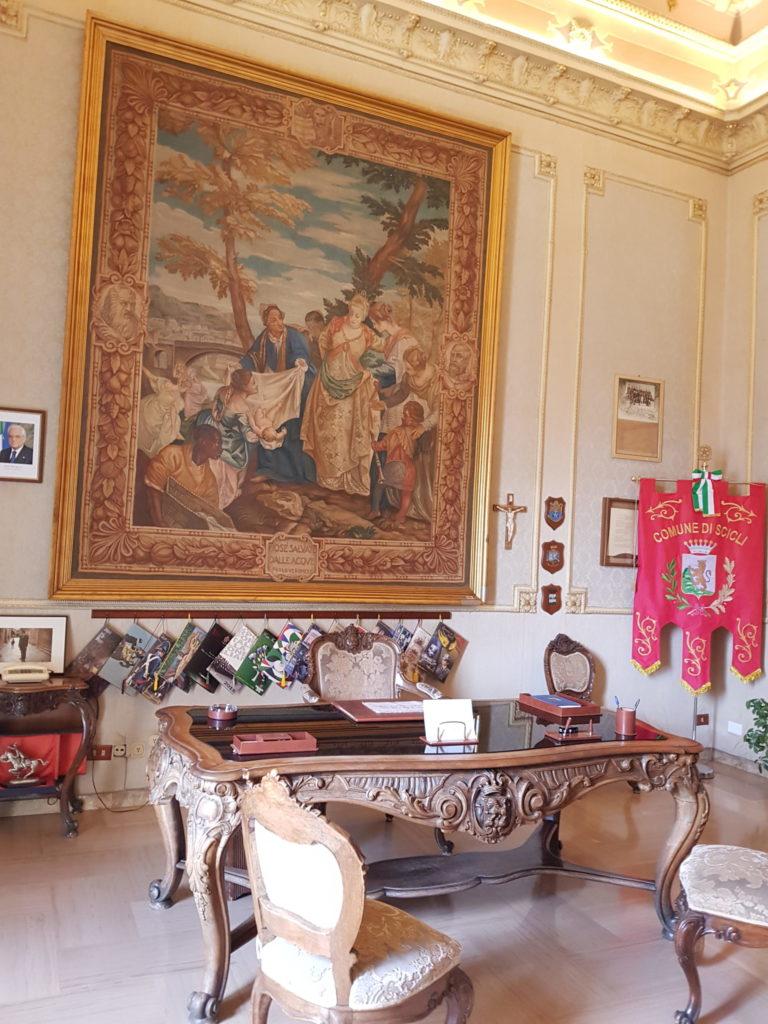 La mairie de Scicli sert de lieu de tournage au commissariat de Vigata et à la questura de Montelusa