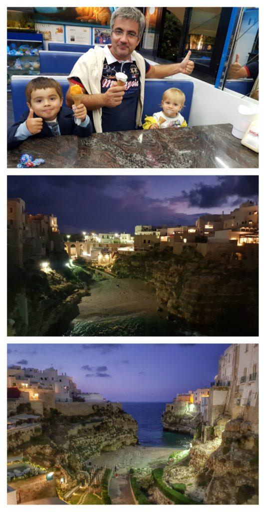 Séjour dans la Puglia en famille : Polignano a Mare la nuit