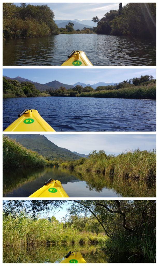 Faire du canoë kayak dans le delta du Fangu, une super activité en famille