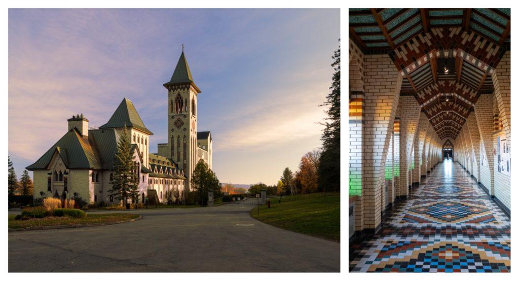 Vacances en famille dans les Cantons de l'est : l'abbaye saint Benoit du lac à Magog