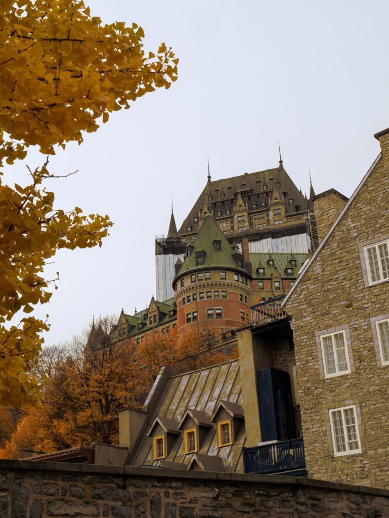 Séjour à Québec en famille pour Halloween, le château Frontenac