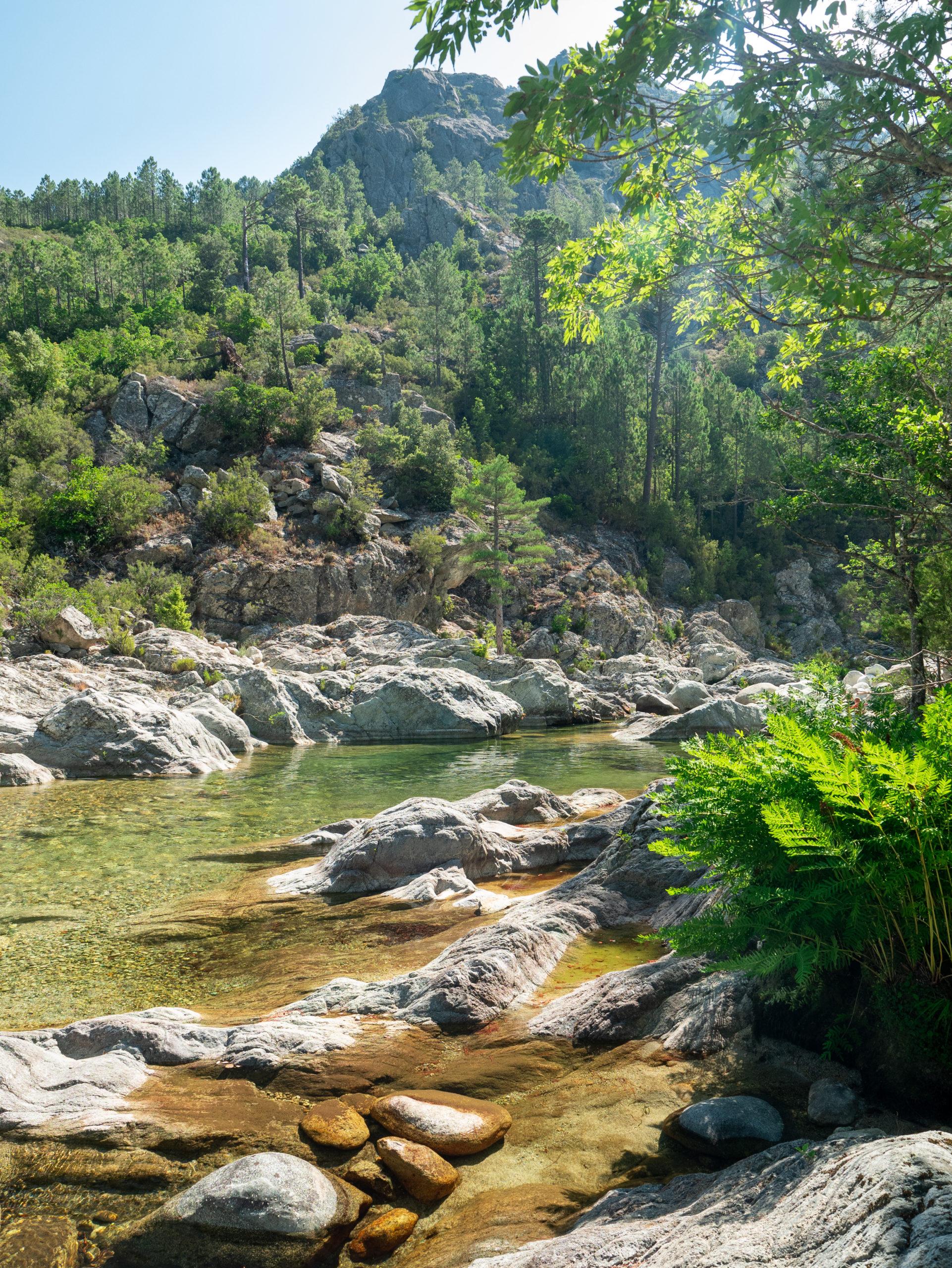 Activités en centre Corse, les rivières