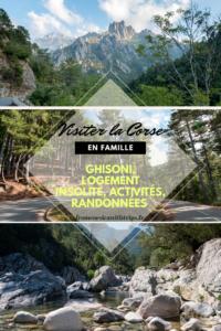 Ghisoni et le centre Corse, activités, randonnées et hébergement insolite