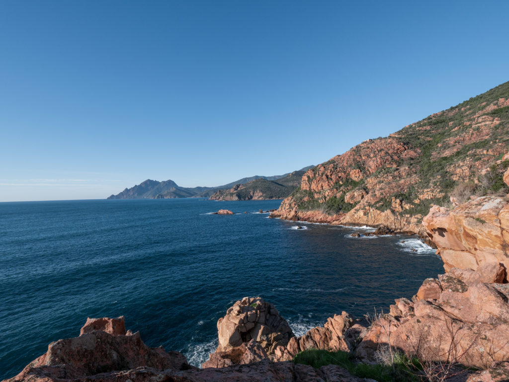 Golfe de Porto en Corse. Week-end en famille sur la cote ouest de la Corse