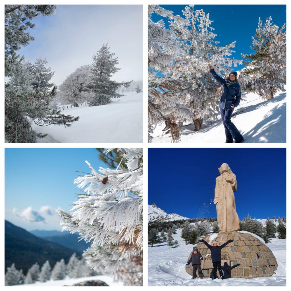 Week-end en hiver en Corse et en famille. Le col de Vergio