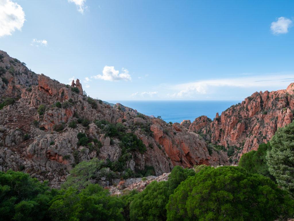 la route des calanche de piana en Corse
